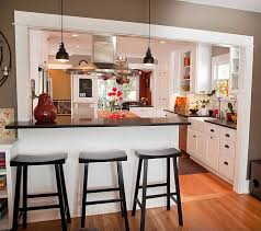 half wall kitchen designs homes abc