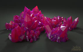 crystals pink crystals by laticis on deviantart