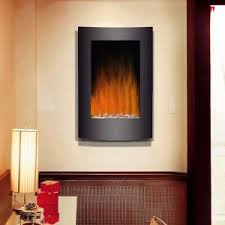 Wall Mounted Electric Fireplace Heater 23black Curved Tempered Glass Standing Wall Mounted Electric