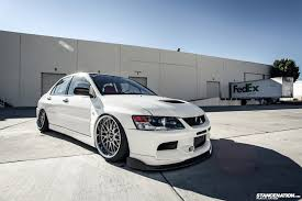 mitsubishi evo white a wicked evo wayne u0027s e85 tuned mitsubishi evolution