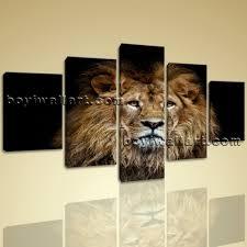 large lion portrait animal contemporary on canvas print wall art