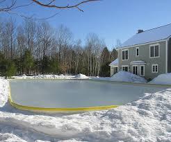 Making Backyard Ice Rink Nicerink Backyard Ice Rink Kit