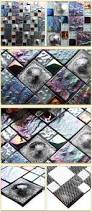 black iridescent metallic glass tile backsplash deco mosaics art