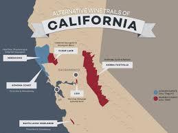 California Wine Country Map 8 Alternative Wine Trails Of California Wine Folly