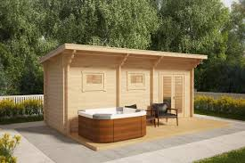 sauna cabin with terrace oliver ii 11m2 70mm 6 x 2 m u2013 summer
