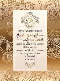 Invitation Card For The Wedding Vintage Baroque Style Wedding Invitation Card Template Elegant