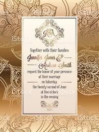 Design Wedding Invitation Cards Vintage Baroque Style Wedding Invitation Card Template Elegant