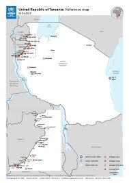 Tanzania Map Document Unhcr Presence In Tanzania Map