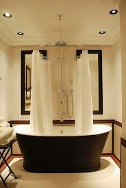 Bathroom Curtain Ideas Pinterest by Curtain Luxury Shower Rods Impressive Black Bathtub Clawfoot Best