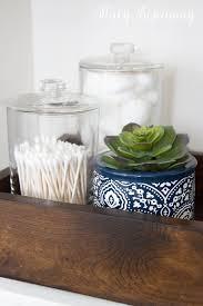 Bathroom Jars With Lids Downstairs Bathroom Refresh Stacy Risenmay