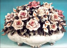 italian porcelain roses italian of capodimonte my in has two pieces