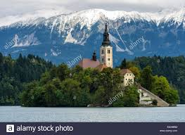 Slovenia Lake Slovenia Lake Bled Snow Stock Photos U0026 Slovenia Lake Bled Snow