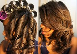 roller set relaxed hair roller set archives just grow already