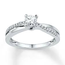 white gold promise rings diamond promise ring 1 6 ct tw cut 10k white gold