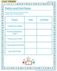 ratios and unit rates u2013 ratio worksheet free printables u2013 math blaster