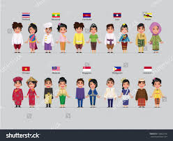 philippines traditional clothing for kids asean boys girls traditional costume flag stock vector 178822796