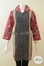 desain baju batik halus batik klasik cap tulis desain modern kombinasi tiga warna model