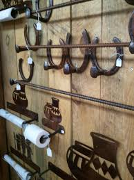 horseshoe decorations for home coat rack and towel bars from santa fe nm made from railroad