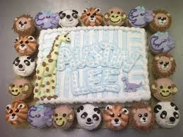 animal baby shower cake by theforest on deviantart