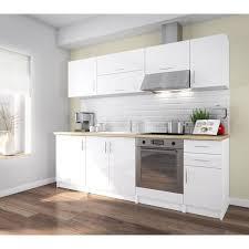 cuisine laqué corry cuisine complète l 240 cm blanc laqué brillant fermeture