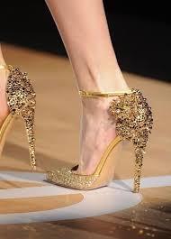 wedding shoes jeweled heels sparkly jeweled gold heels so glamorous wedding shoes gold