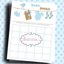 baby boy shower gift bingo game baby laundry printable more