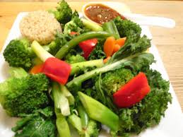 steamed vegetables with garlic sauce the