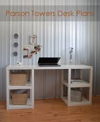 Free Plans To Build A Corner Desk by Ana White Build A Parson Tower Desk Free And Easy Diy Project