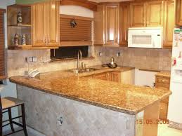 Kitchen Cabinets With Granite Countertops Kitchen Style Brown Cabinet Granite Countertop Galley Kitchen