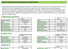 Energy Audit Report Template energy audit software home energy auditors