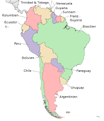Political Map Of Latin America by Map Of South America Political Map German Large Worldofmaps