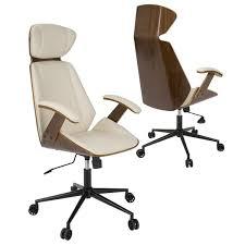 impressive spectre mid century modern walnut wood office chair
