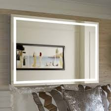 Illuminated Bathroom Wall Mirror - modern lighted bathroom mirrors allmodern
