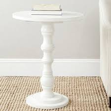 small white side table for nursery diy pedestal side table diy furniture room and living rooms