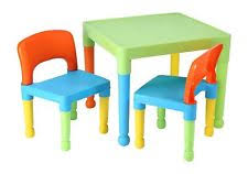 kids plastic table and chairs liberty house toys children s table and 2 chairs set lightweight