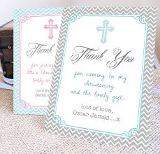 personalised christening thank you card by precious plum