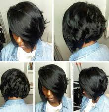 weave for inverted bob dark black hair with weave inverted bob hairstyles and fron side