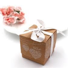 50 pcs boîte de bonbons vintage dentelle kraft papier cadeau boîte - Bonbonni Re Mariage