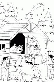 christmas coloring jesus coloring