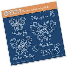 butterflies with words a5 square groovi plate set gro an 40340 03