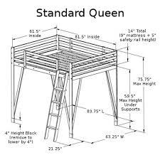 made in america wood adjustable loft bed queen dimensions 500 jpg