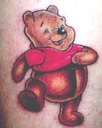 winnie the pooh bear and little bee tattoo on back tattooshunter com