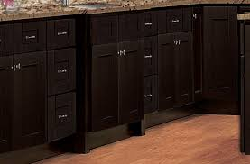 rittenhouse shaker u2013 dark chocolate u2013 solid wood cabinets