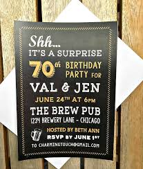 70th birthday invitation printed invitations beers and cheers to