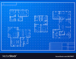 blueprint house plans set of different blueprint house plans royalty free vector