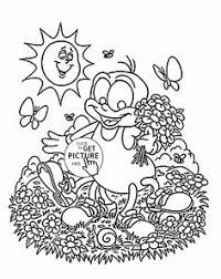 happy spring flowers coloring kids seasons