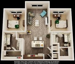 Floor Plan Of A Living Room Student Apartments In Tampa Near Usf Iq Apartments
