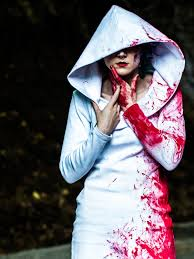 halloween costume blood splatter dress