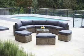 piece mayfair curved modular rattan garden furniture set