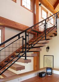stair rail ideas staircase farmhouse with decorative railing